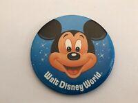 "Vintage 1980s Walt Disney World ""Mickey Mouse"" Pinback Button / Pin"