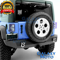 "Rock Crawler Full Width Rear Bumper+2"" Hitch Receiver for 07-18 Jeep Wrangler JK"