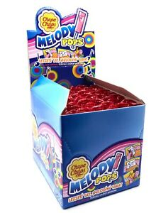 CHUPA CHUPS Melody Pops 48 Lollipops Strawberry Flavor - 750g 25oz EXP.12.2022