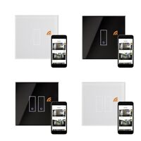 RetroTouch iotty Remote Control Black White Glass Smart WiFi On Off Light Switch