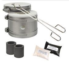 Kwik Kiln Gold & Silver Melting Kit Tongs Crucibles Mini Propane Gas Furnace Set