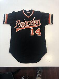 Game Worn Used Princeton Tigers Wilson Baseball Jersey Size 40 #14