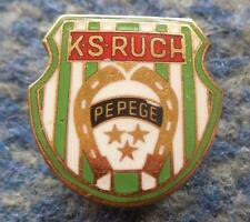 RUCH PEPEGE GRUDZIADZ POLAND FOOTBALL SOCCER 1950's RARE SCREW ENAMEL PIN BADGE