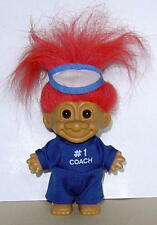 """VINTAGE RUSS  4"""" TROLL DOLL #1 COACH VERY GOOD USED CONDITION COMPLETE OUTFIT"""