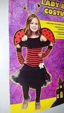 *** New Lady Bug Halloween Costume Girl. 8 - 10 Year olds.***