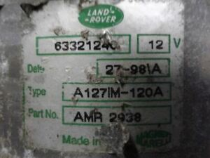 Alternator Discovery Sd Fits 96-99 LAND ROVER 1326855