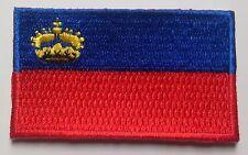 Liechtenstein Flag Patch Embroidered Iron On Applique Liechtensteiner