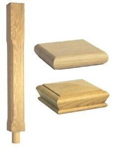 Stair Stop Chamfer Newel Peg Post - Solid Wood - Oak Quality Uk Manufactured!