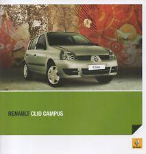 Renault Clio Campus car (made in Argentina) _2008 Prospekt / Brochure