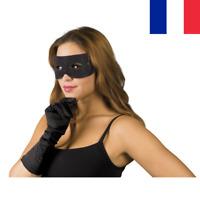 Masque Bandeau Noir Bandit Loup pour les Yeux Zorro Taille Adulte Déguisement