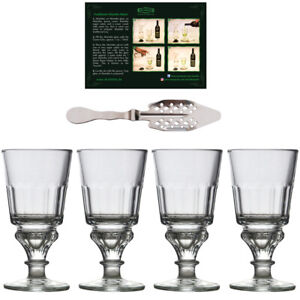 Absinth Gläser Set   Original Design + Löffel   Glas mit Reservoir