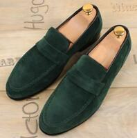 Mens Casual Loafers Slip on Suede Stylish Round Toe Driving British Shoes 2019
