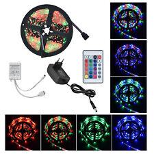 LED Streifen 5m Lichterkette Beleuchtung Partylicht RGB LED Stripe Band Strip