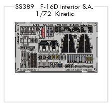Eduard 1/72 F-16D Fighting Falcon Interior self-adhesive # SS389