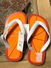 e2306654c New Lacoste Boys Girls Sz 11 Sandals Flip Flops Orange