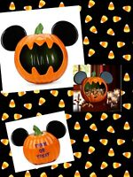 Disney Parks Mickey Mouse Halloween Candy Bowl Pumpkin Jack O Lantern