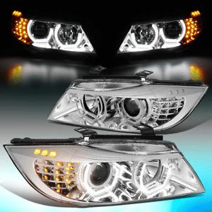 FOR 2009-2012 BMW E90 325I 328I 335I SEDAN LED U-HALO PROJECTOR HEADLIGHT LAMPS