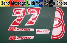 Gilera Runner Ring & 7 pegatinas Todos Los Colores En Stock Sp Vx Fxr Vxr 50 70 125 172