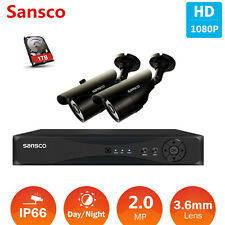 4CH 1080P HDMI DVR 2.0MP Outdoor IR Night CCTV Home Security Camera System 1TB