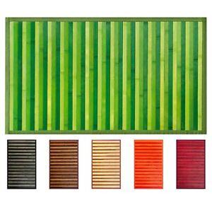 OLIVO.shop -BAMBOO Tappeto in bamboo fondo antiscivolo colori e misure assortite