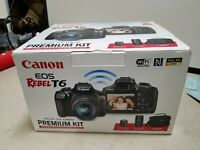 Canon EOS Rebel T6 DSLR Camera with 18-55mm and 75-300mm Lenses and Bag Bundle