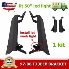 "Jeep 97-06 Wrangler TJ 50"" LED Light Bar Windshield A-Pillar Mounting Brackets"