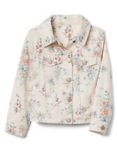 Gap Baby / Toddler Girl Floral Denim Jacket Outerwear Pink Flowers Size 3T NWT