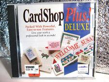CARDSHOP PLUS DELUXE   PC CD Rom Poster Software 500 clip art 700 Templates  EUC