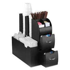 Mind Reader Coffee Condiment Caddy Organizer 5 2/5 x 11 x 12 3/5 Black CAD01BLK