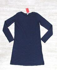 NEW American Apparel Women's Classic Long Sleeve Shirt Dress Blue Size MEDIUM #2
