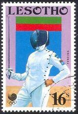 Lesotho 1988 jeux olympiques/DRAPEAU ERREUR/ESCRIME/FENCING Sport/1 V used VFU (b4475)