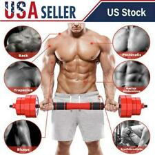 Weight Dumbbell Set Totall 44 LB Adjustable Cap Gym Workout Barbell Plates Body