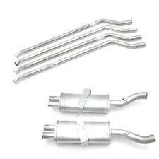 Citroen SM Rear Exhaust Resonator Pipe Set with front mounting clamps