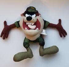 Disney WB Looney Tunes Tasmanian Devil Marine Camo Military USA Plush Taz Toy