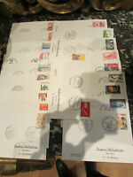 lot de 21 enveloppes postiers philatélistes exposition philatélique annees 1970