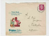 Germany 1930  Franz Herb Slogan Man Drinking Stamps Cover ref R19300