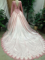 ROSE PINK BALLGOWN WEDDING DRESS BRIDAL GOWN RENAISSANCE FAIR PRE-OWNED USED M