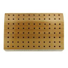 Hardwood Jewelers Handy Block Bur Organizer Needle Files Beaders & Mini Brushes