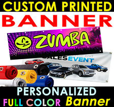 2x6 Printed Full Color Custom Banner Sign + grommets or hems , outdoors / Indoor