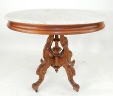 Large Victorian Intricately carve Walnut Parlor Table 34.5 inches