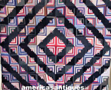 Important Antique Barn Rising Quilt 2040 Pieces Wool Hand Pieced And Quilted