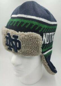 Notre Dame fighting Irish '47 Trapper Winter Hat cap warm green blue new NCAA
