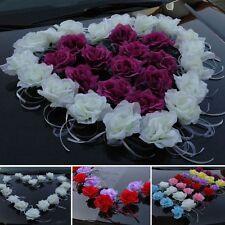 EINZEL ROSEN + Bänder Auto Schmuck Braut Paar  Dekoration Autoschmuck Hochzeit