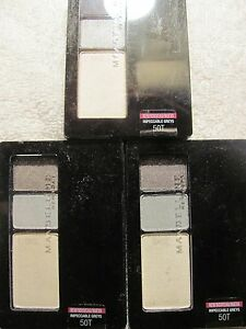 Maybelline Expert Wear  Eye Shadow Trio 0.13 oz #50T Impeccable Grey Lot of 3