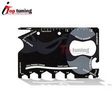 Wallet NINJA 18 in 1 Multi Purpose Function Card Size Pocket Survival Tool Steel