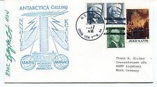 1977 McMurdo Station Antarctica Calling NNN0ICE KC4USV Mars AMRAD Cover SIGNED