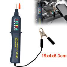 1x Digital Battery Auto Alternator Tester 6LED Display for Car Suv Motorcycle YU