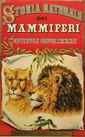Frontispiz zu U.Hoepli: Storia Naturale dei Mammiferi, um 1910, Farblithographie