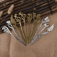 Vintage metal hair chopsticks hair stick hairpin fork hair women accessory B Hw