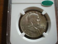 1958 D NGC & CAC MS66FBL CAC Full Bell Lines Franklin Half Dollar Great Toning